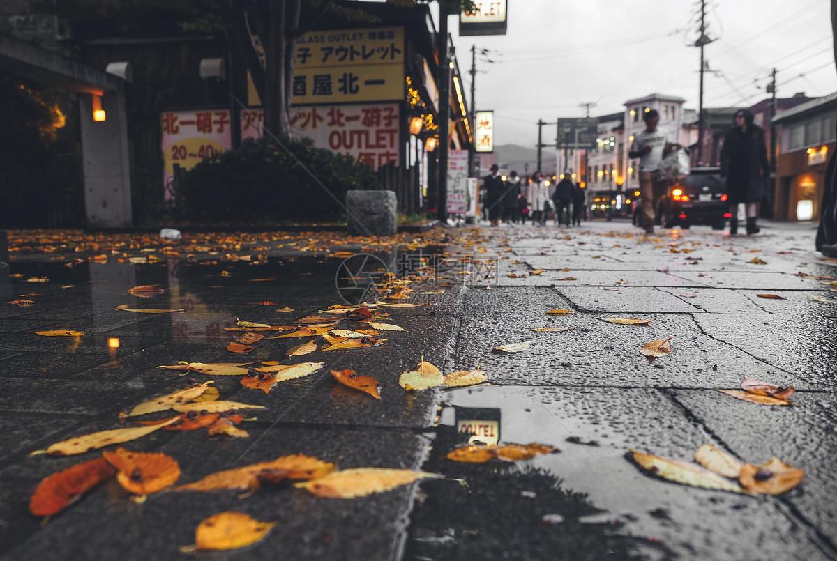秋冬日本北海道小樽图片