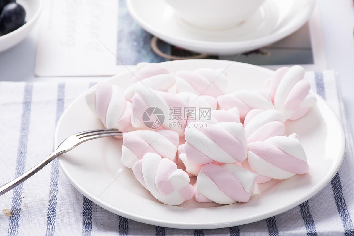 食品棉花糖图片