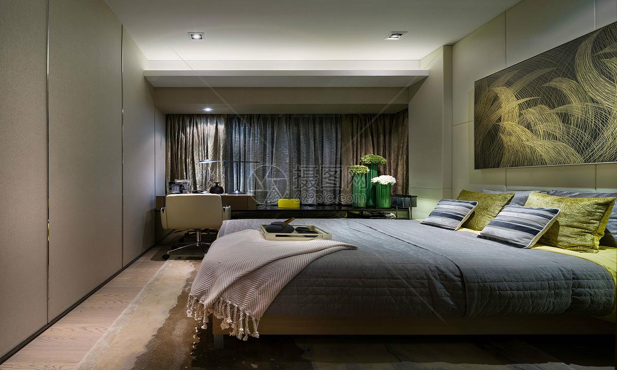 现代主卧室图片