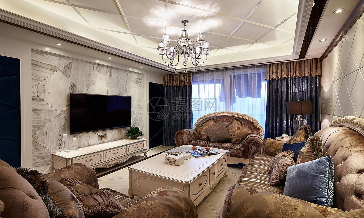 简约欧式客厅图片