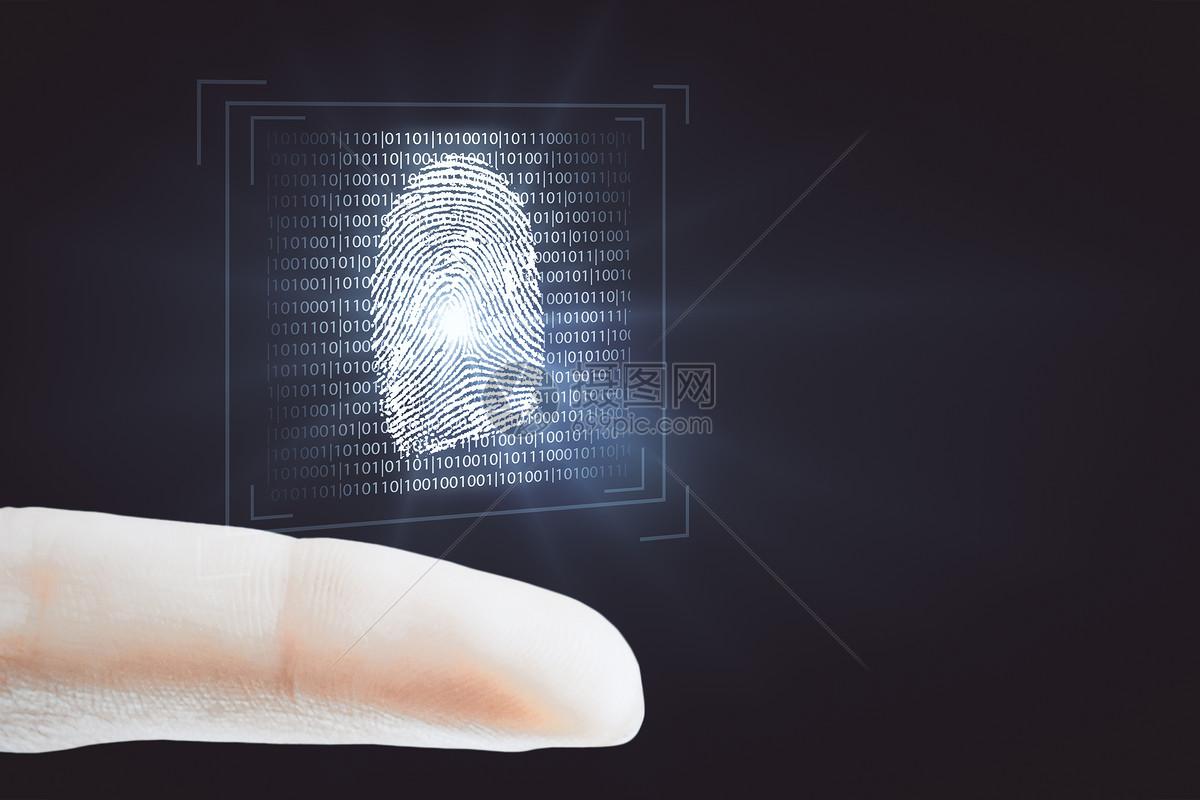 指纹识别图片