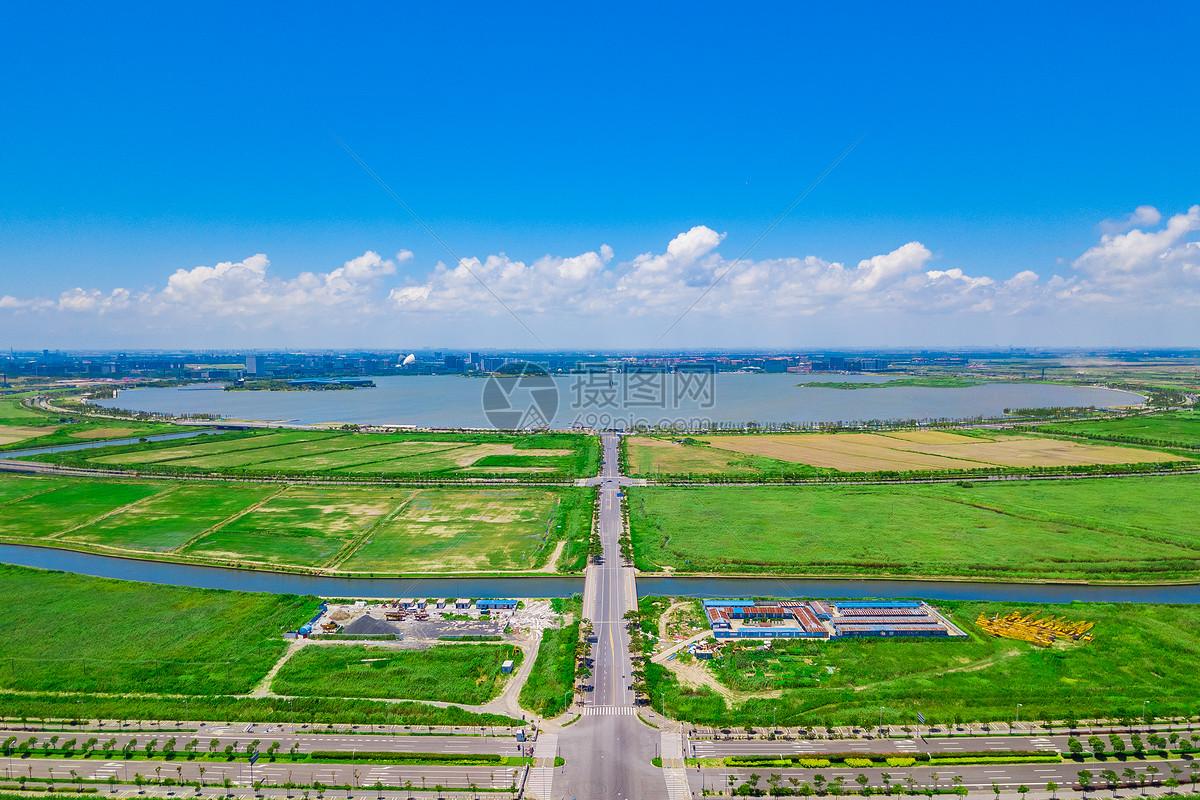 上海航拍滴水湖图片