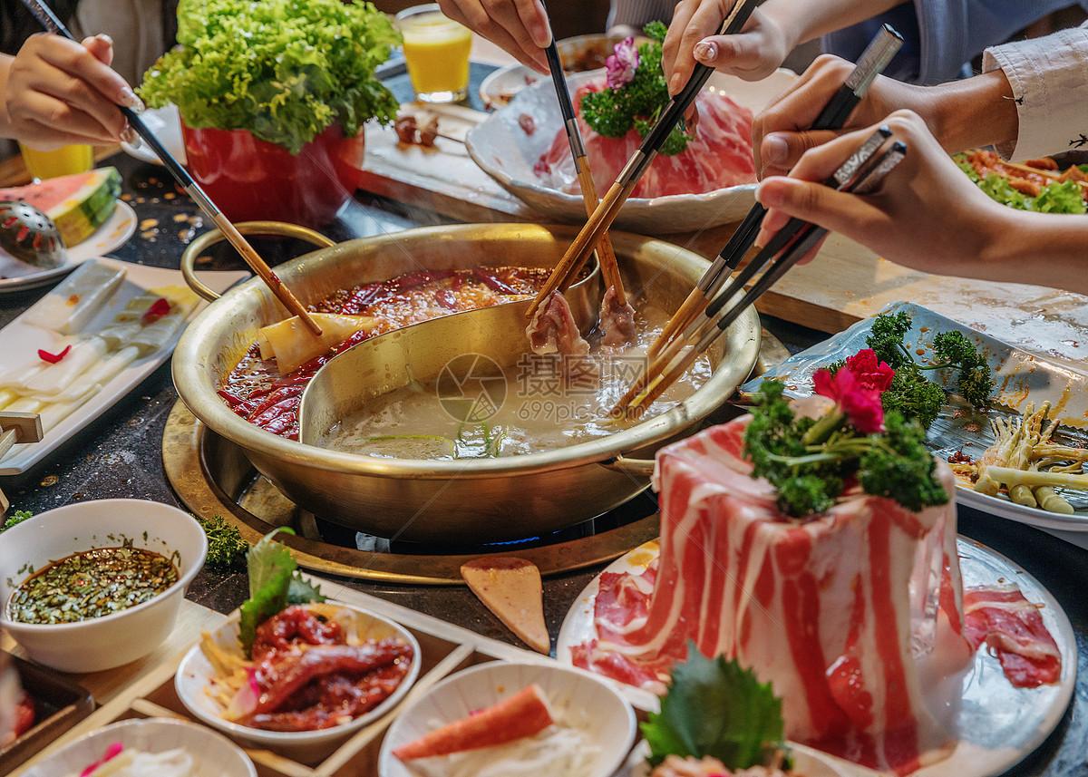 火锅美食青年聚会图片