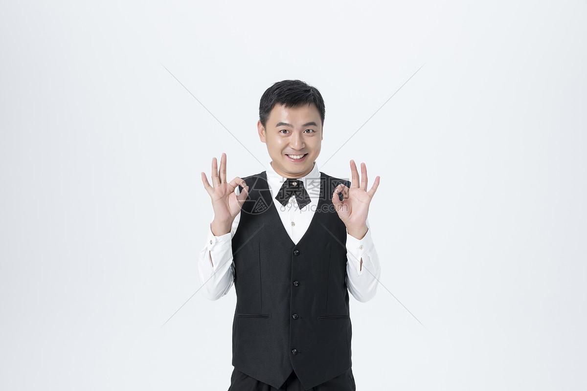 男服务员图片