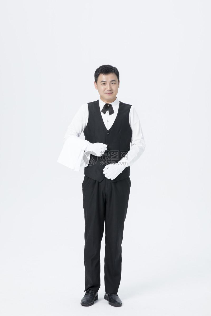 专业男服务员图片