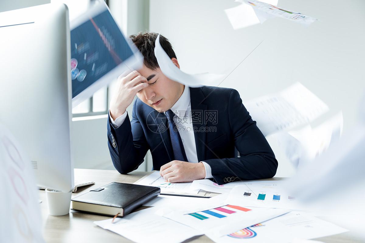 职场商务男士压力图片