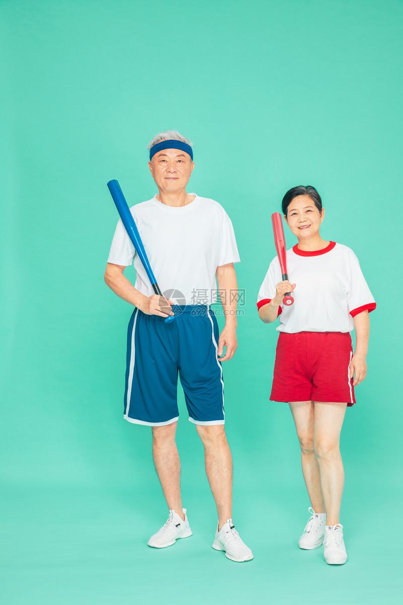 老人运动棒球图片