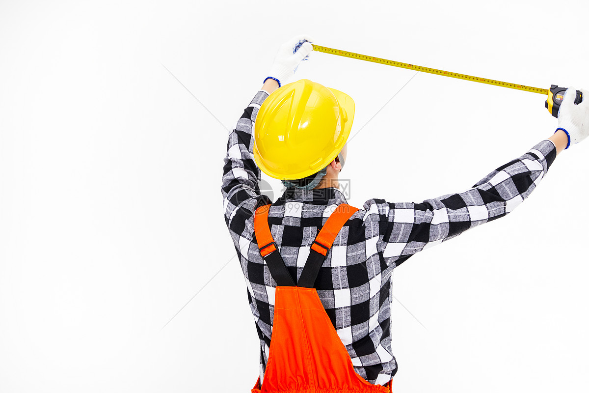 测量工人图片