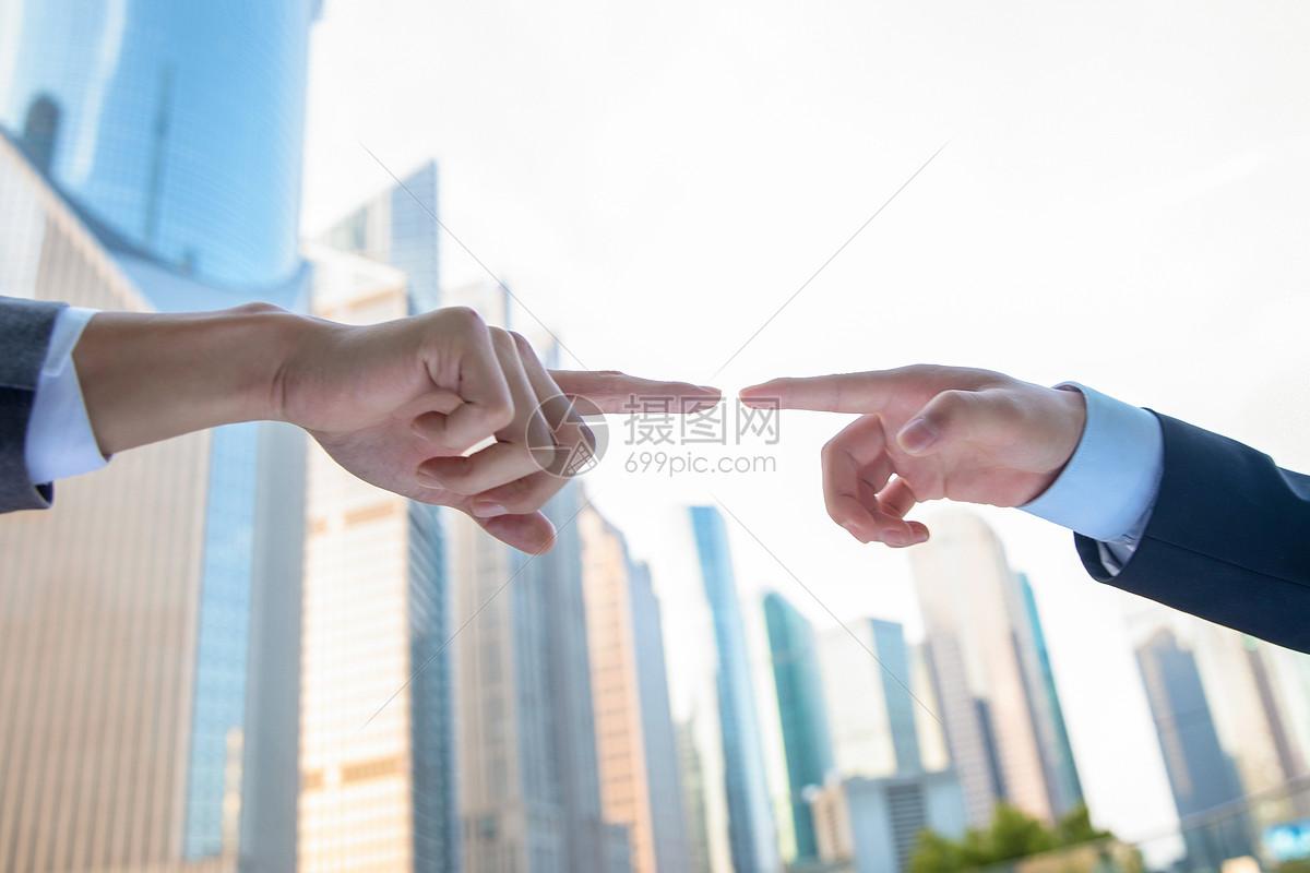职业商务手势图片