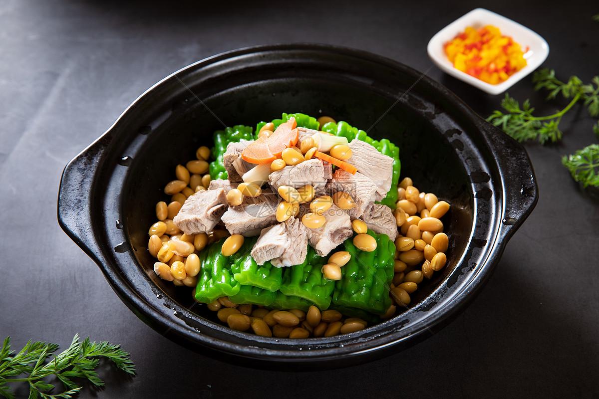 黄豆苦瓜肉汤图片