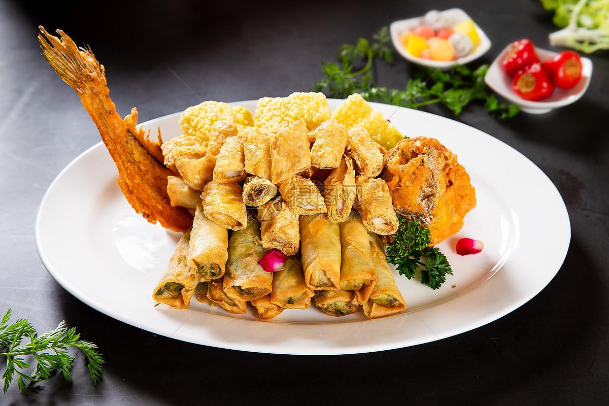 美食炸鱼图片