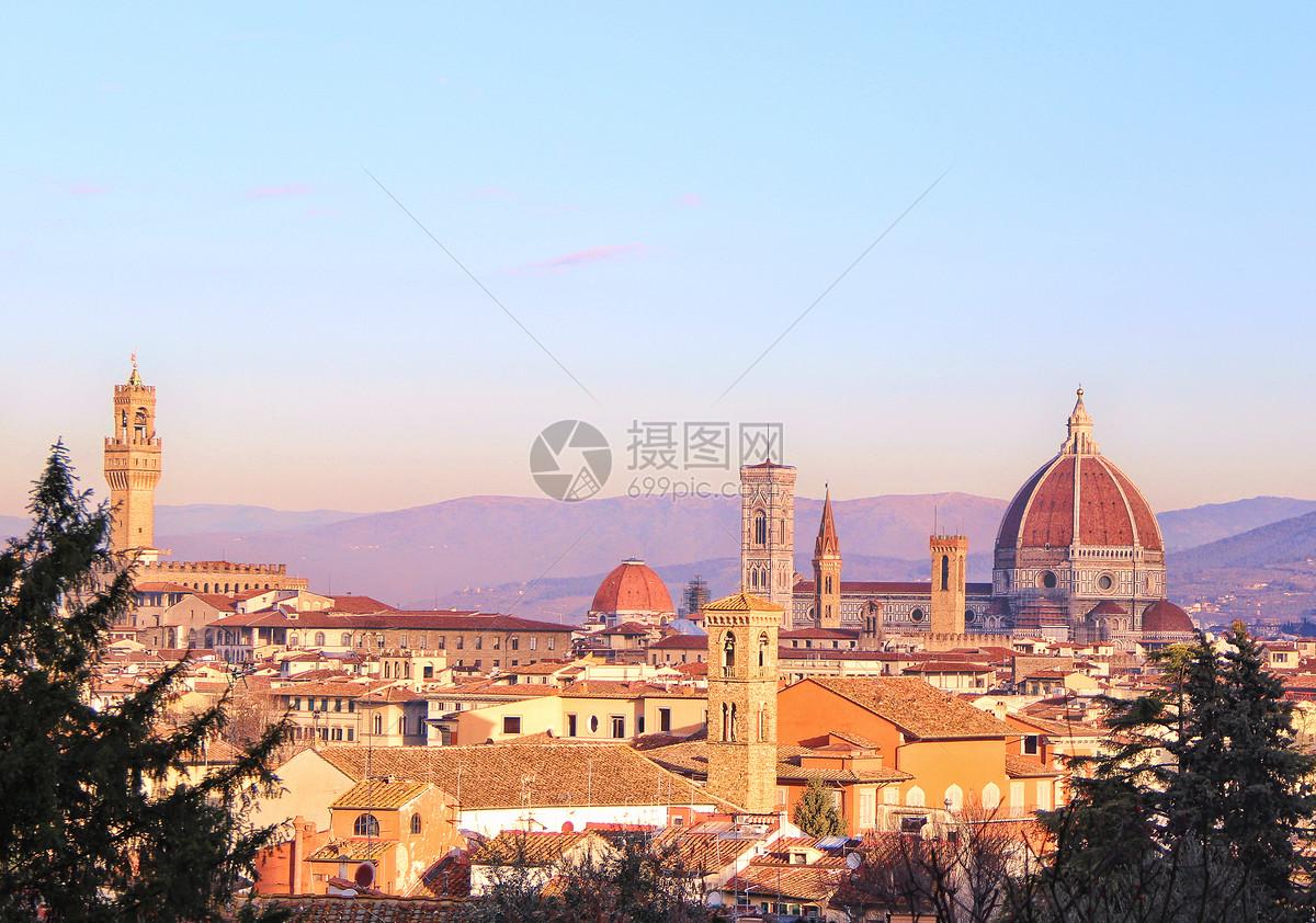 佛罗伦萨日落图片