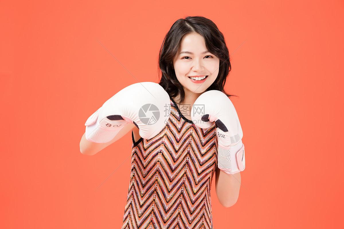 拳击美女图片