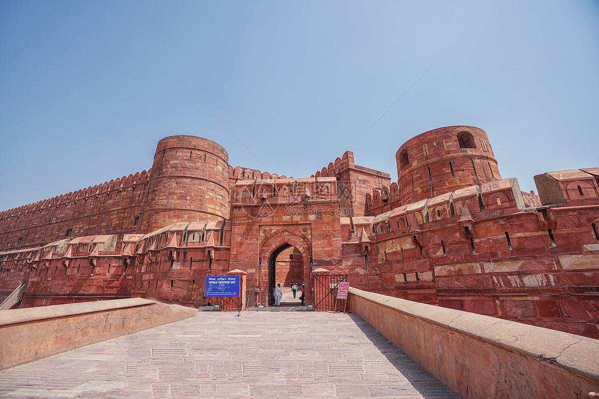 印度阿格拉红堡图片