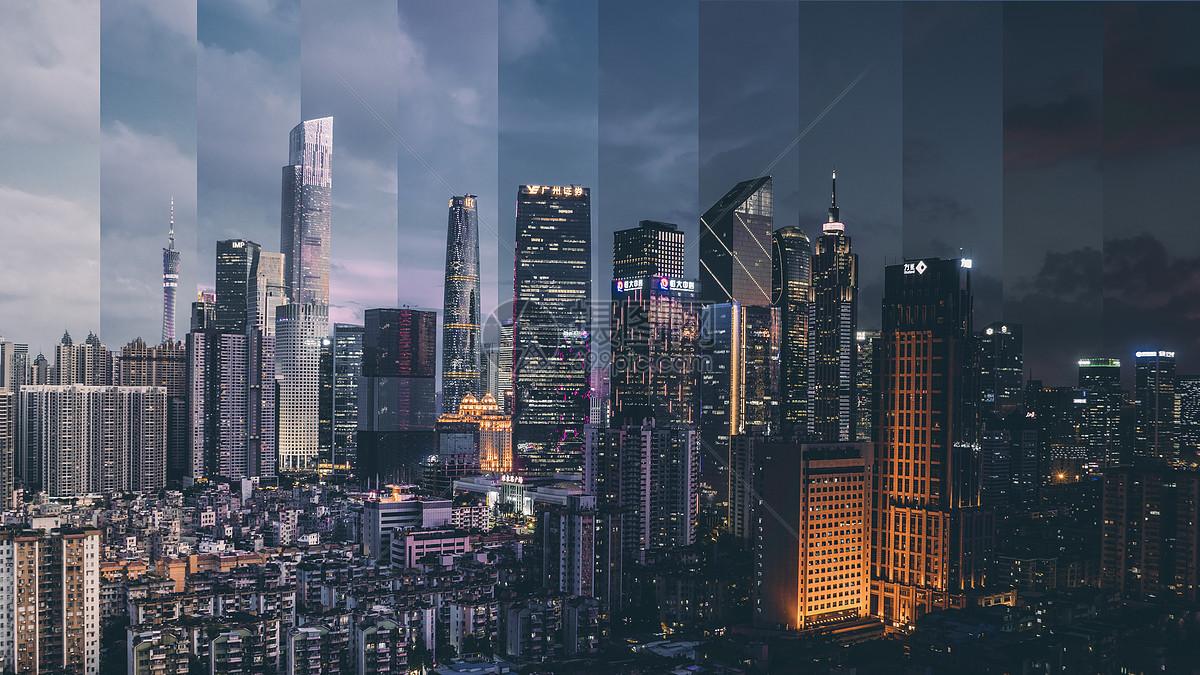 广州珠江新城分时摄影图片